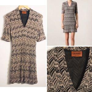 MISSONI Zig Zag Crochet Knit Dress